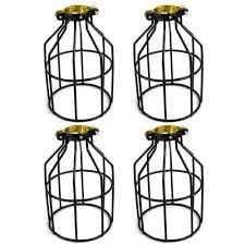 Industrial String Lights adamax metal lamp guard for string light and lampholder 4 pack