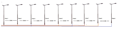 calculate cable voltage drop for street light pole electrical