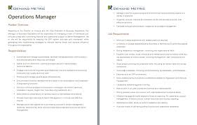 operations manager job description a template to quickly