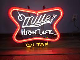 vtg miller high life beer flashing motion moving neon light up
