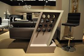 Mini Bar Table Zin Modern 2 Tone Grey Lacquer Mini Bar Table
