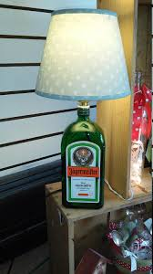 bar lighting recycled jagermeister liqueur bottle working table