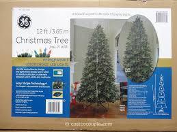 christmas christmas splendi costco tree ge feet pre lit led