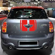 Car Bonnet Flags Set Car Side Racing Stripes Hood Rear Engine Cover Trunk Vinyl