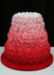 amazing red ombre rose wedding cake red wedding ideas tie dye