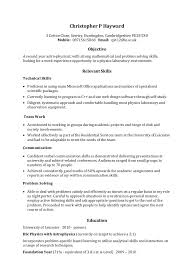 A Good Example Of A Resume by Skills On Resume Example Berathen Com