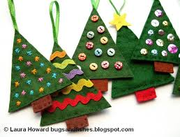 felt christmas ornaments bugs and fishes by lupin how to sew easy felt christmas tree