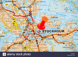 Map Sweden Map Of Stockholm Capital City Sweden Stock Photo Royalty Free
