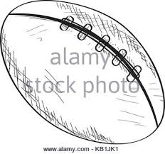 football or rugby ball icon outline style stock vector art