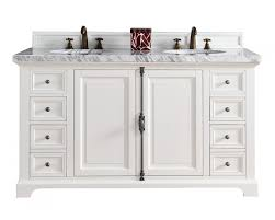 Bathroom Vanities 60 by Providence White Double Sink Bathroom Vanity Soft Close Doors Drawers