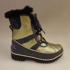 sorel s tivoli boots size 9 sorel childrens tivoli ii boots nc1871 pale gold razzle size 9 ebay