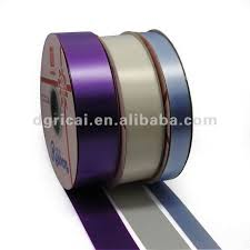 plastic ribbon satin ribbon roll manufacturer from panipat popular cheap printed