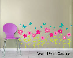 flower wall decals floral wall decor butterfly wall decals zoom