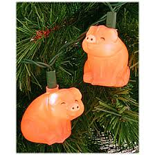pig lights used to hang these with bows as