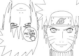 naruto with sasuke anime coloring pages for kids printable free