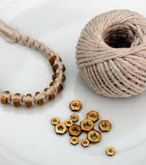 diy bracelet string images Macram square knot string hexnut bracelet minieco jpg