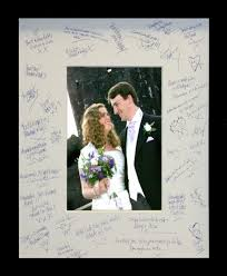 wedding autograph frame valentines idea dont just say you or him put it in a