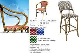 Rattan Bistro Chairs French Cafe Bistro Rattan Chairs Parisian Chairs