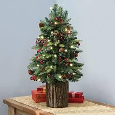 tree mini tree with lights miniature