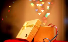 new year box new year christmas gift box bokeh hearts wallpaper