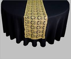 Gold Lace Table Runner Metallic Braid Table Runner Jif Linens