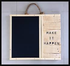 diy do it yourself wooden blackboard khashab design rustic