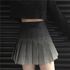 pleated skirt gradient plaid high waist pleated skirt harajuku fashion