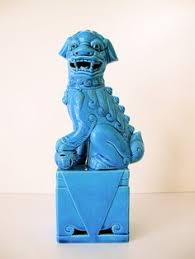 turquoise foo dogs for sale large pair vintage turquoise blue foo dogs chinoiserie imperial