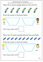 maths sheets for year 1 year 2 maths worksheet understanding division as maths