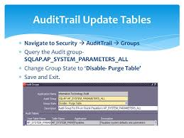 Change Table Name Oracle Overview Of Audittrail In Oracle Ebs R12 With Exle Of Hcm