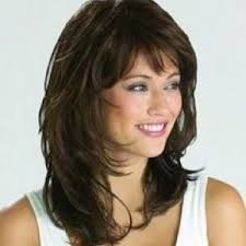 medium length hairstyles with bangs medium length idea image popular