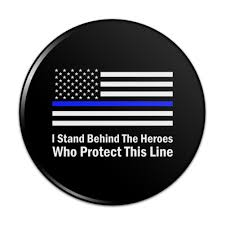 American Flag Magnet I Stand Behind Thin Blue Line American Kitchen Refrigerator Locker