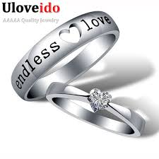 commitment ring aliexpress buy heart zircon endless engagement ring