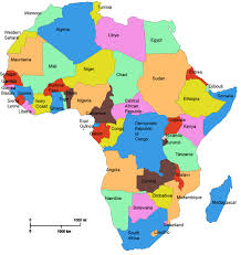 map with names of countries in africa map of africa with country names my