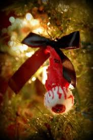 Decorated Halloween Trees Blood Spatter Horror Christmas Tree Onaments 6 00 Usd By