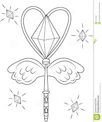 a star magic wand coloring page stock illustration throughout