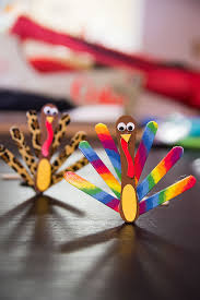 thanksgiving popsicle stick turkey craft