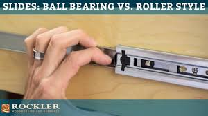drawer slide tutorial ball bearing vs roller style youtube