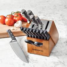 self sharpening kitchen knives calphalon self sharpening knife blocks the green
