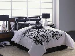 modern black white asian matelasse bedspread bedding design