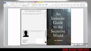 microsoft word templates for book covers print book cover template for word preview youtube