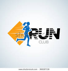 sport club running club vector labels imagem vetorial de banco
