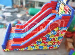 m m chocolate slide channal inflatables