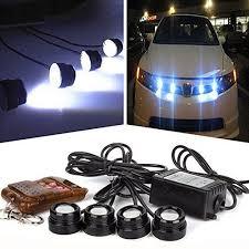 strobe lights for car headlights ecosin fashion 4in1 12v hawkeye led car emergency strobe lights drl