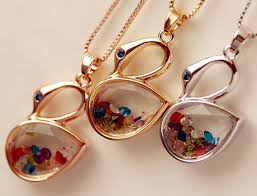 wish bottle necklace images Wish bottle necklace with gold foil inside 8mm glass vials jpg
