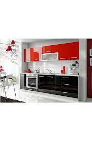 cuisine noir et rouge cuisine laquée rouge et noir 2 60 mètre star cuisine