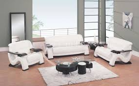 White Leather Living Room Set Modern Rust Leather Living Room Set With Mahogany Arms