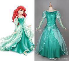 Ariel Mermaid Halloween Costume 2016 Princess Ariel Dress Green Ariel Mermaid Cosplay