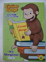 curious george funny monkey big fun coloring activity