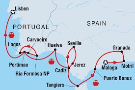 Map Of Spain And Morocco by Cruising Spain Portugal And Morocco Lisbon To Malaga Spain